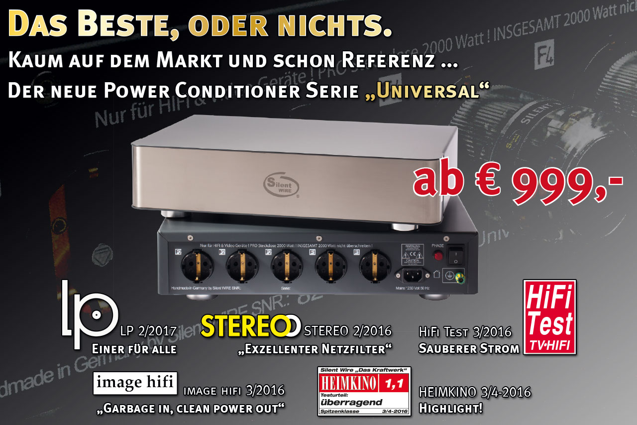 "Der neue Power-Conditioner ""Universal"""